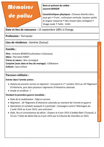 Fiche d identite laurent berger